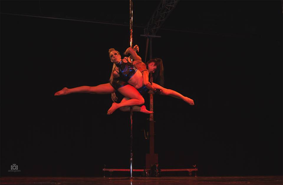 European pole show 2016, Virginie Thierion & Elodie Padovani